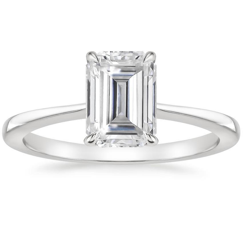 Moissanite Elle Ring in 18K White Gold