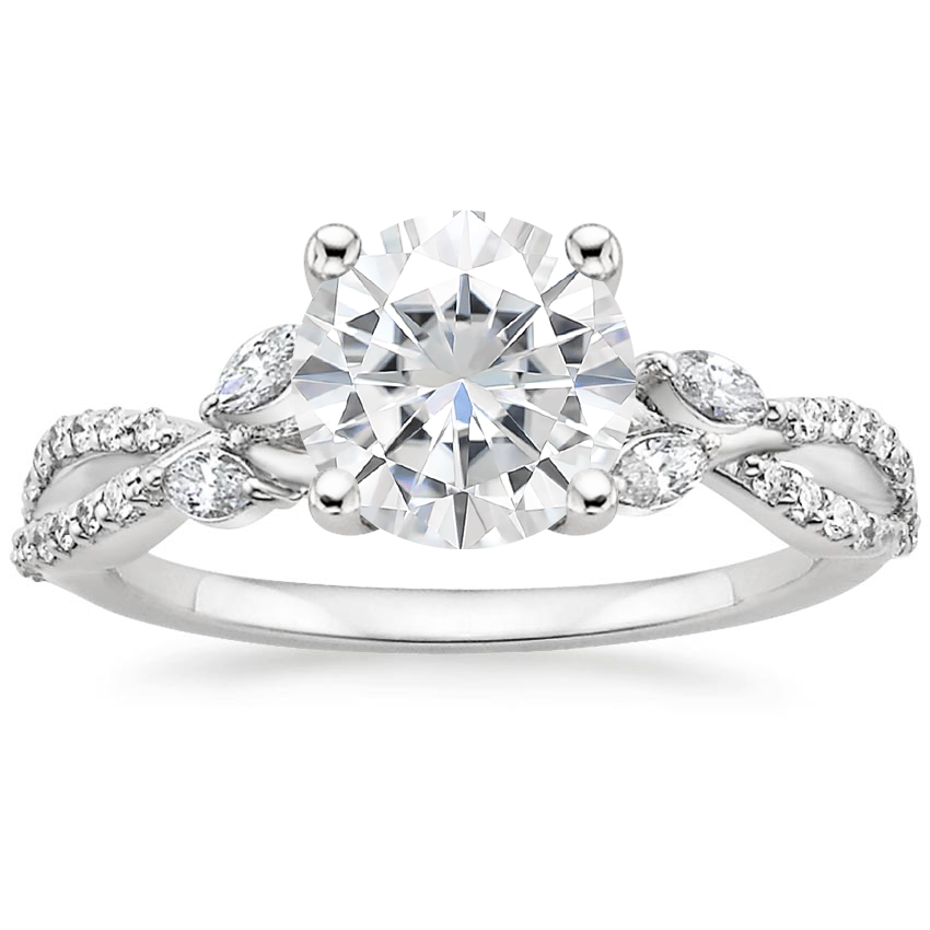 Moissanite Luxe Willow Diamond Ring (1/4 ct. tw.) in 18K White Gold