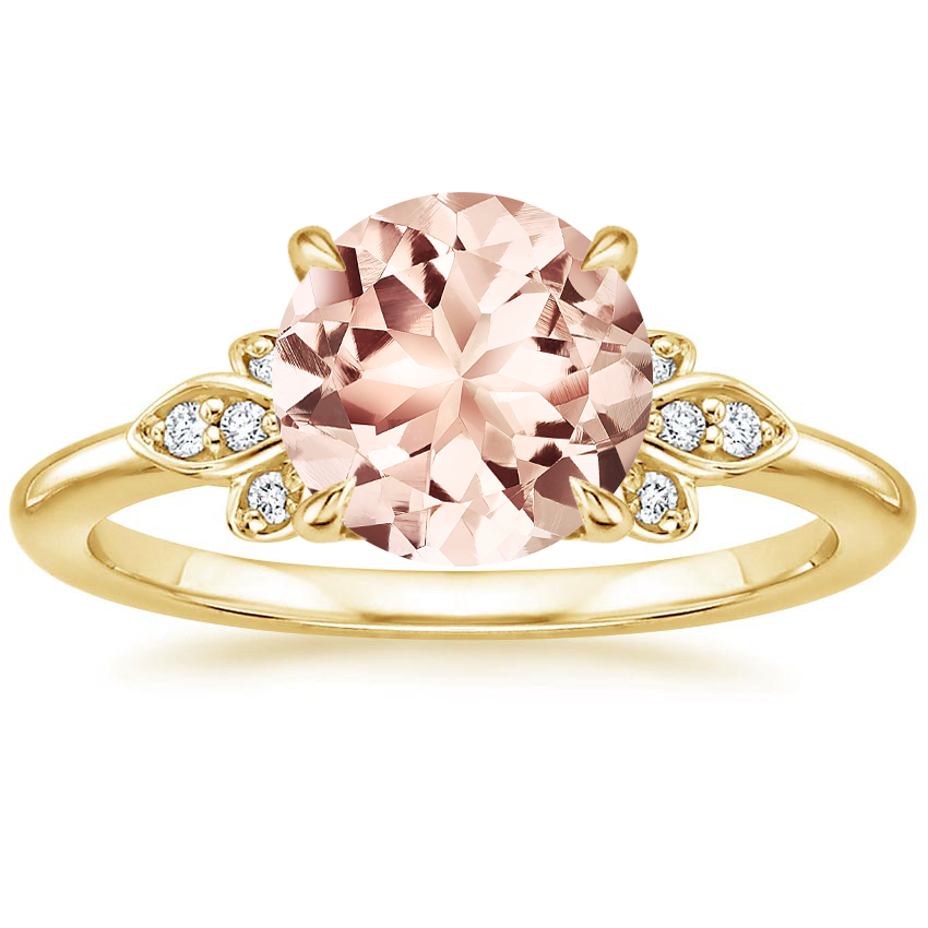 Yellow Gold Morganite Fiorella Diamond Ring