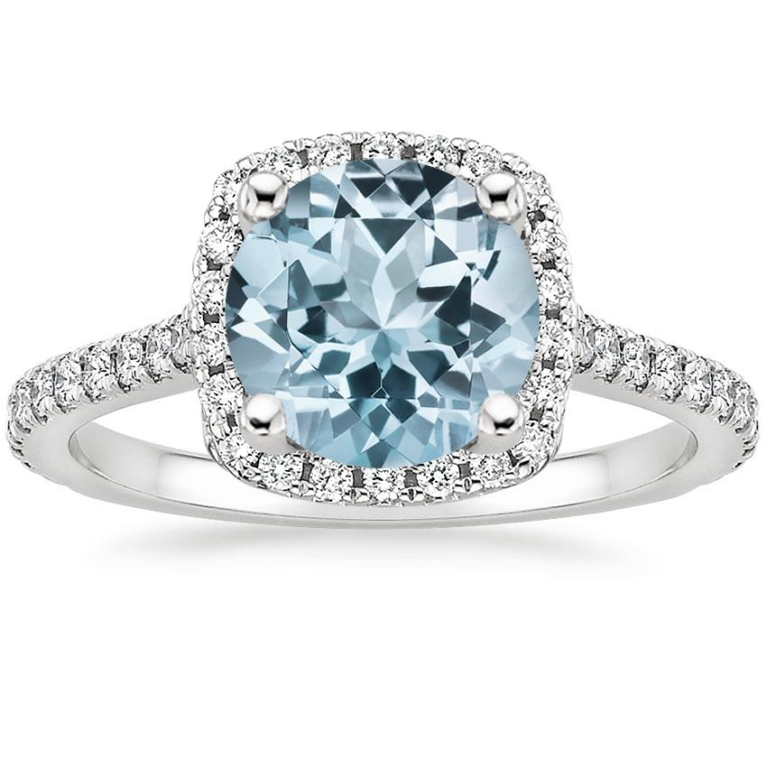 Aquamarine Luxe Odessa Diamond Ring (1/3 ct. tw.) in 18K White Gold