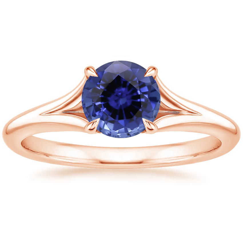 Rose Gold Sapphire Reverie Ring with Surprise Sapphire Accents