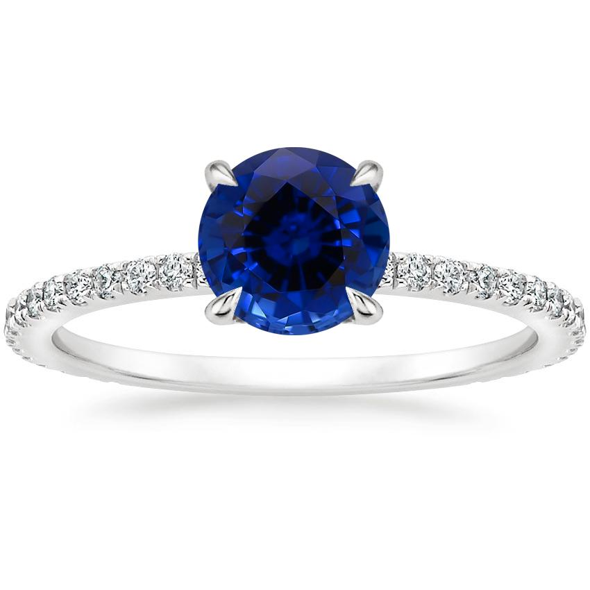 Sapphire Demi Diamond Ring (1/3 ct. tw.) in 18K White Gold