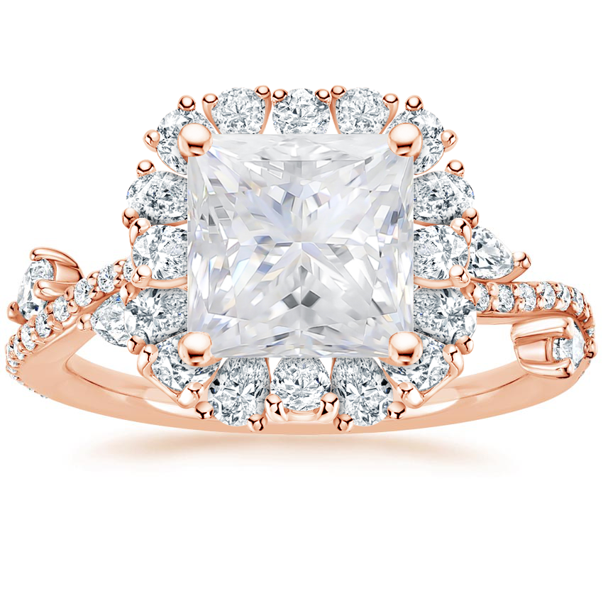 Rose Gold Moissanite Blooming Rose Diamond Ring (1 ct. tw.)