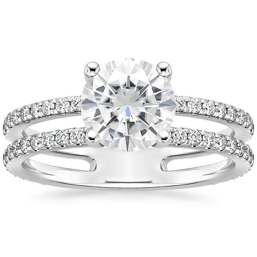 Moissanite Linnia Diamond Ring (1/2 ct. tw.) in 18K White Gold