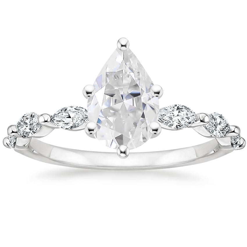 Moissanite Joelle Diamond Ring (1/3 ct. tw.) in Platinum