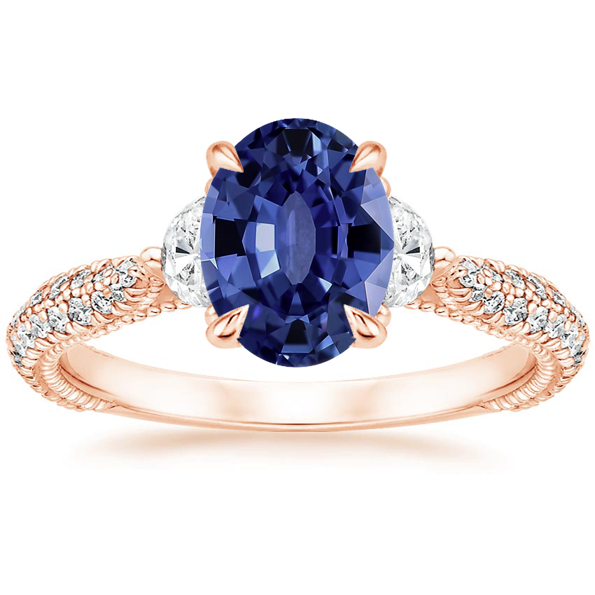 Rose Gold Sapphire Rosemont Diamond Ring