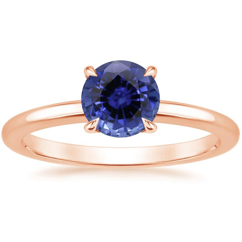 Rose Gold Sapphire Elodie Ring