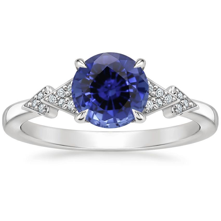 Sapphire Alta Diamond Ring in 18K White Gold