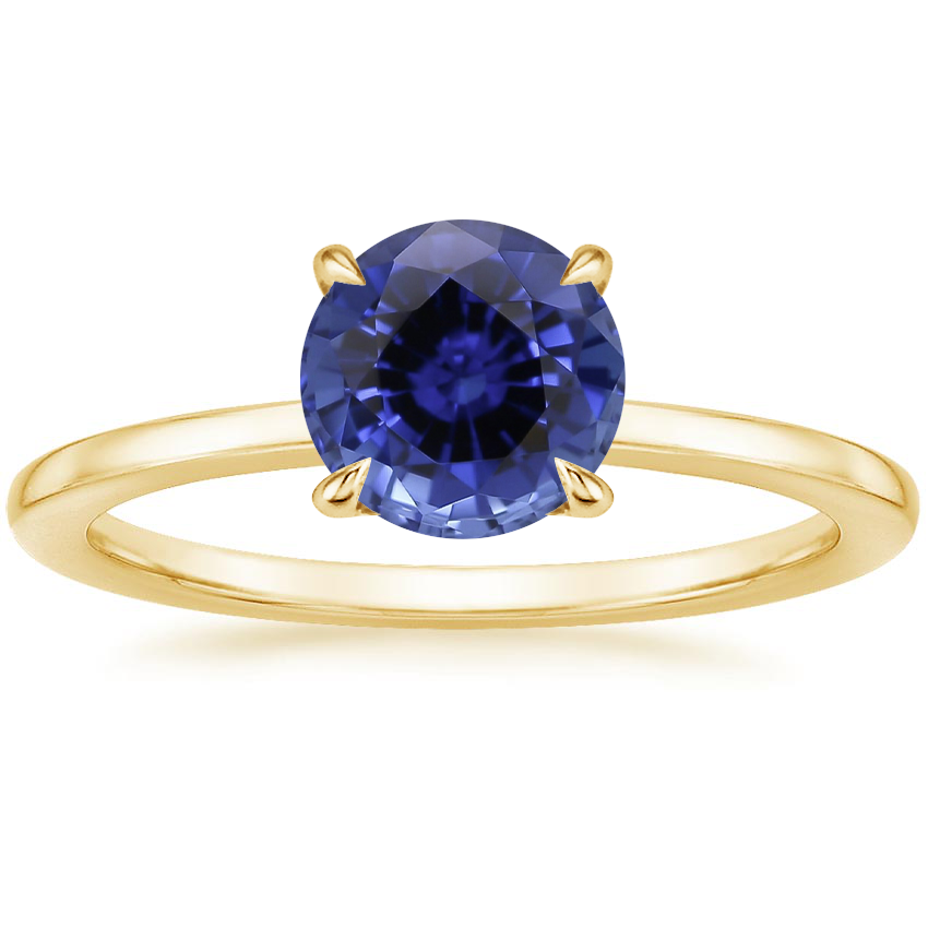 Yellow Gold Sapphire Lumiere Diamond Ring