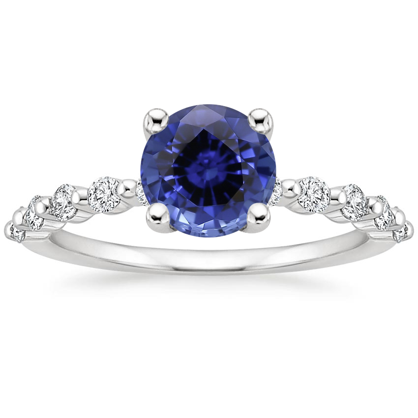 Sapphire Marseille Diamond Ring (1/4 ct. tw.) in 18K White Gold