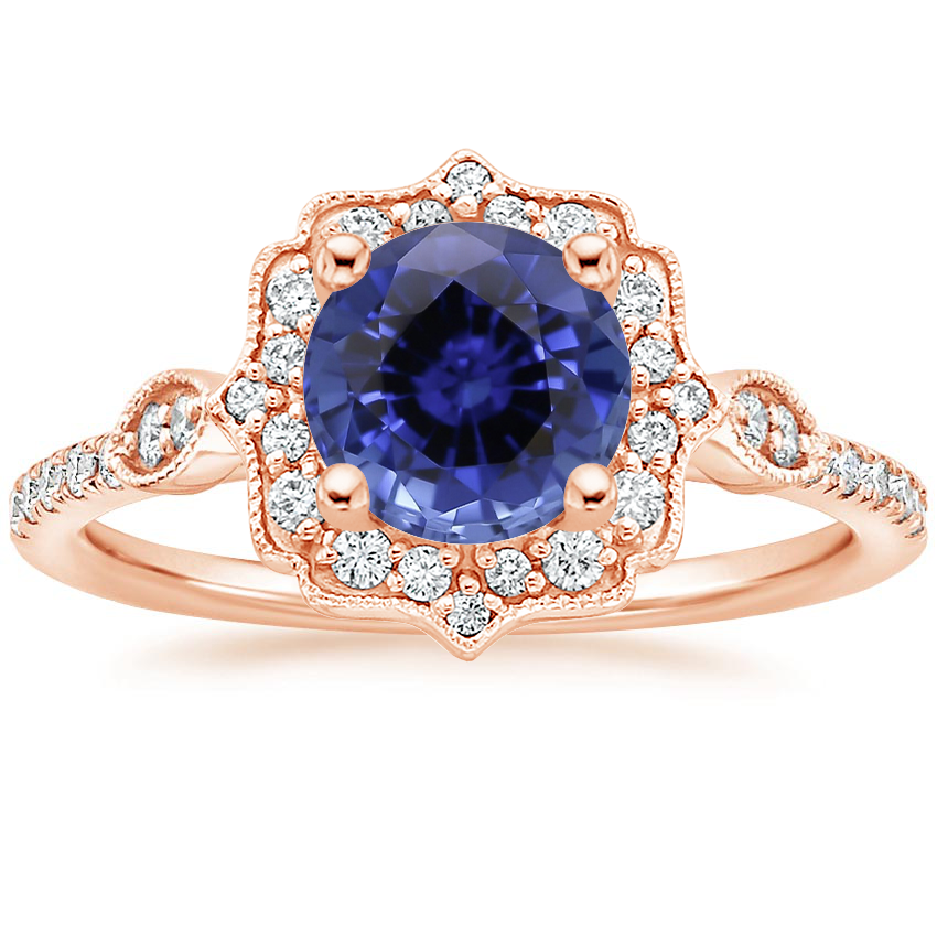 Rose Gold Sapphire Cordelia Diamond Ring (1/4 ct. tw.)