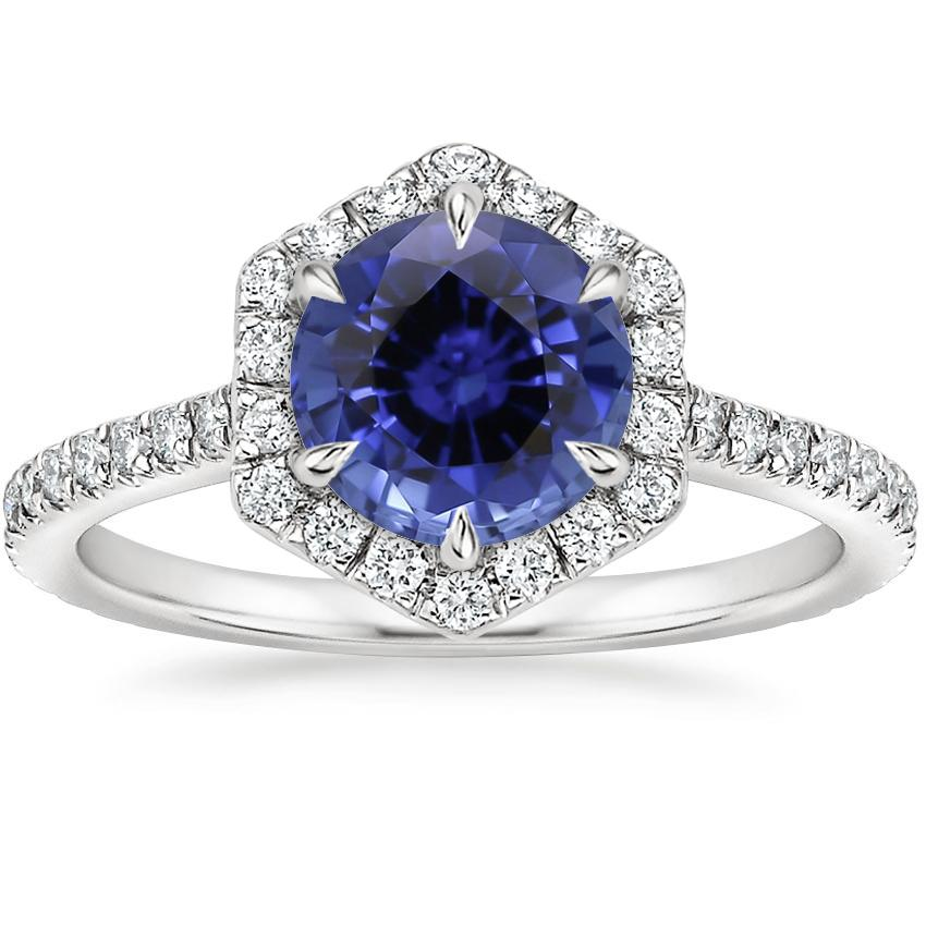 Sapphire Sonnet Diamond Ring (1/3 ct. tw.) in Platinum