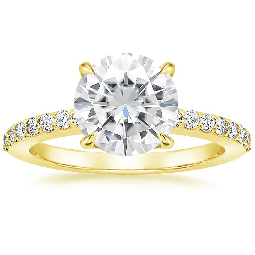 Yellow Gold Moissanite Luxe Elodie Diamond Ring (1/4 ct. tw.)