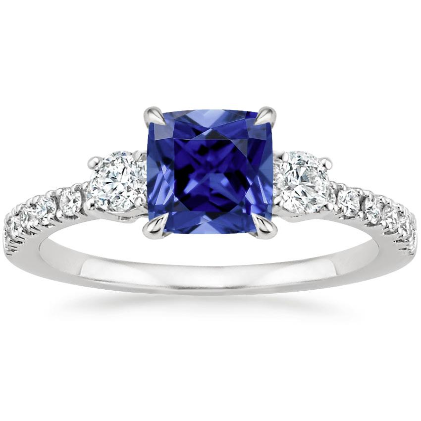 Sapphire Radiance Diamond Ring (1/3 ct. tw.) in Platinum