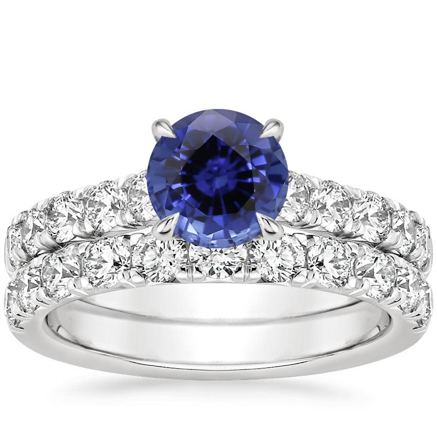 18KW Sapphire Luxe Anthology Bridal Set (1 1/5 ct. tw.), top view