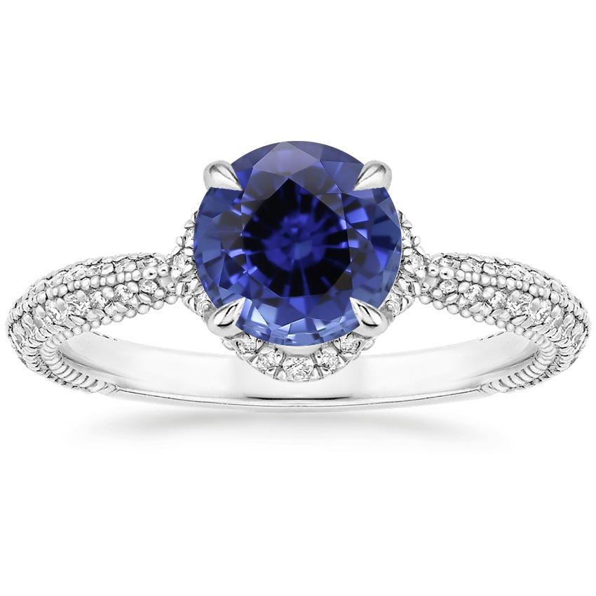 Sapphire Aster Diamond Ring (1/3 ct. tw.) in 18K White Gold