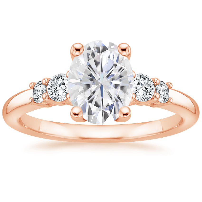 Rose Gold Moissanite Rialto Diamond Ring (1/4 ct. tw.)