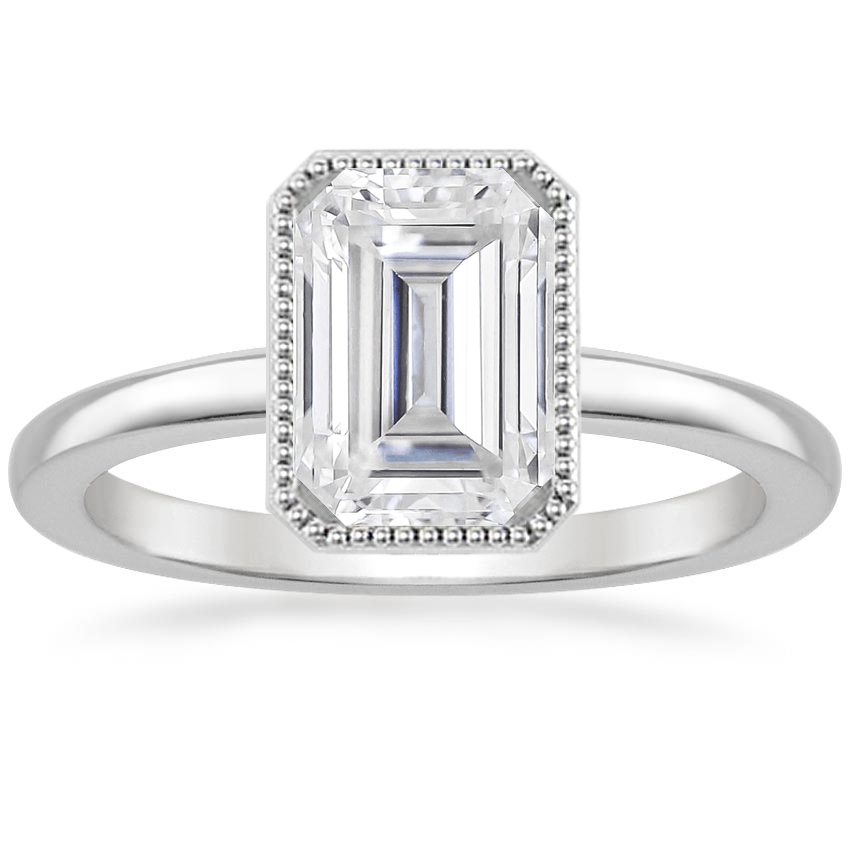 Moissanite Sierra Ring in Platinum