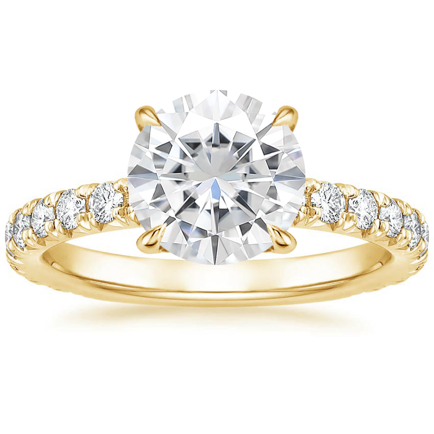 Yellow Gold Moissanite Olympia Diamond Ring