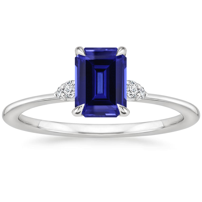 Sapphire Colette Diamond Ring in 18K White Gold