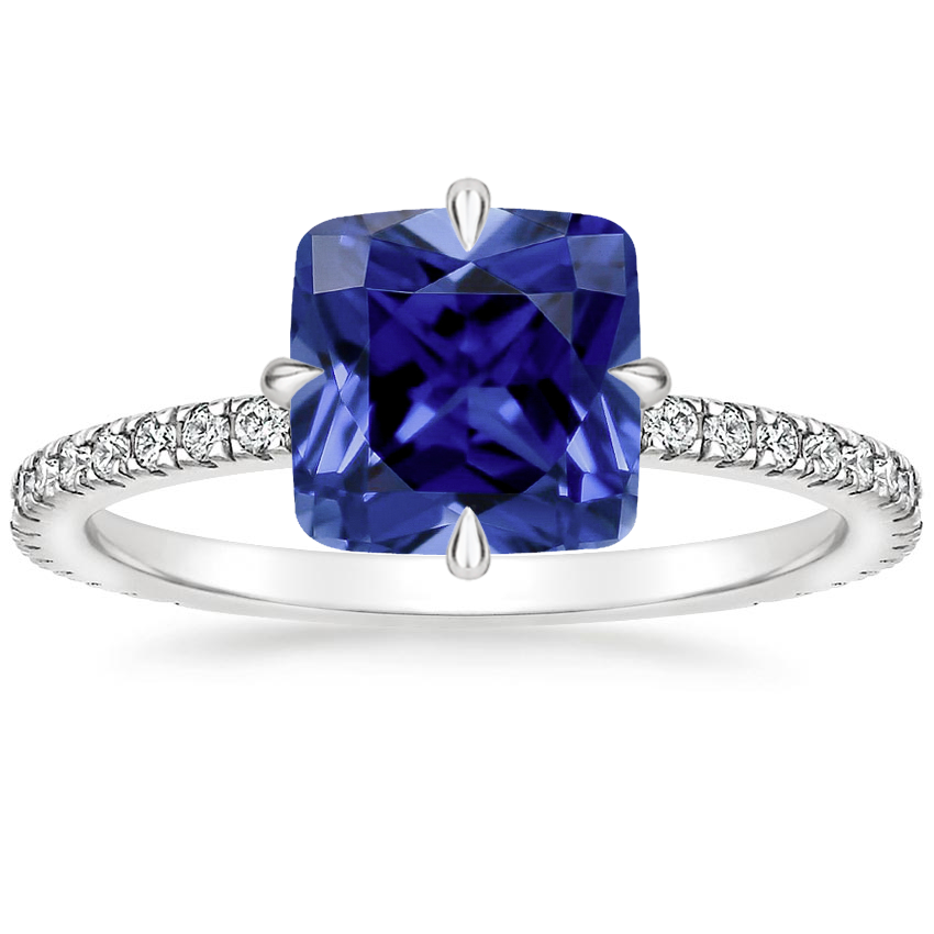 Sapphire Polaris Diamond Ring in Platinum