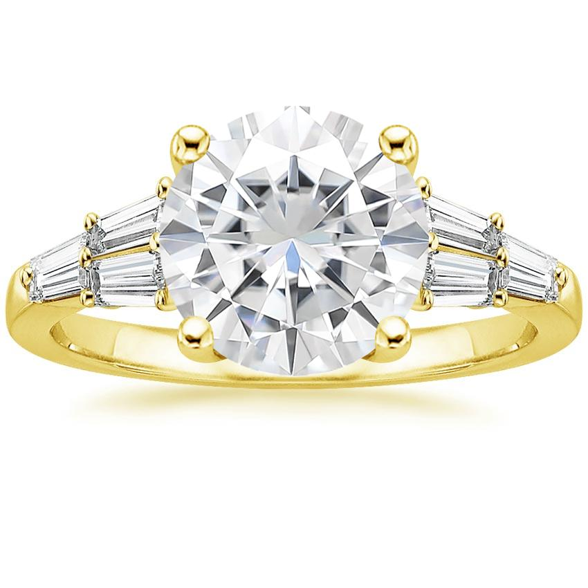Yellow Gold Moissanite Harlow Diamond Ring (1/2 ct. tw.)