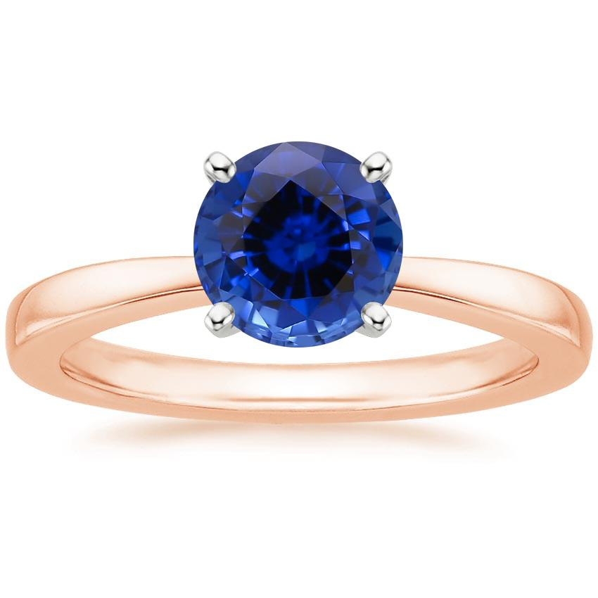 Rose Gold Sapphire Petite Taper Ring