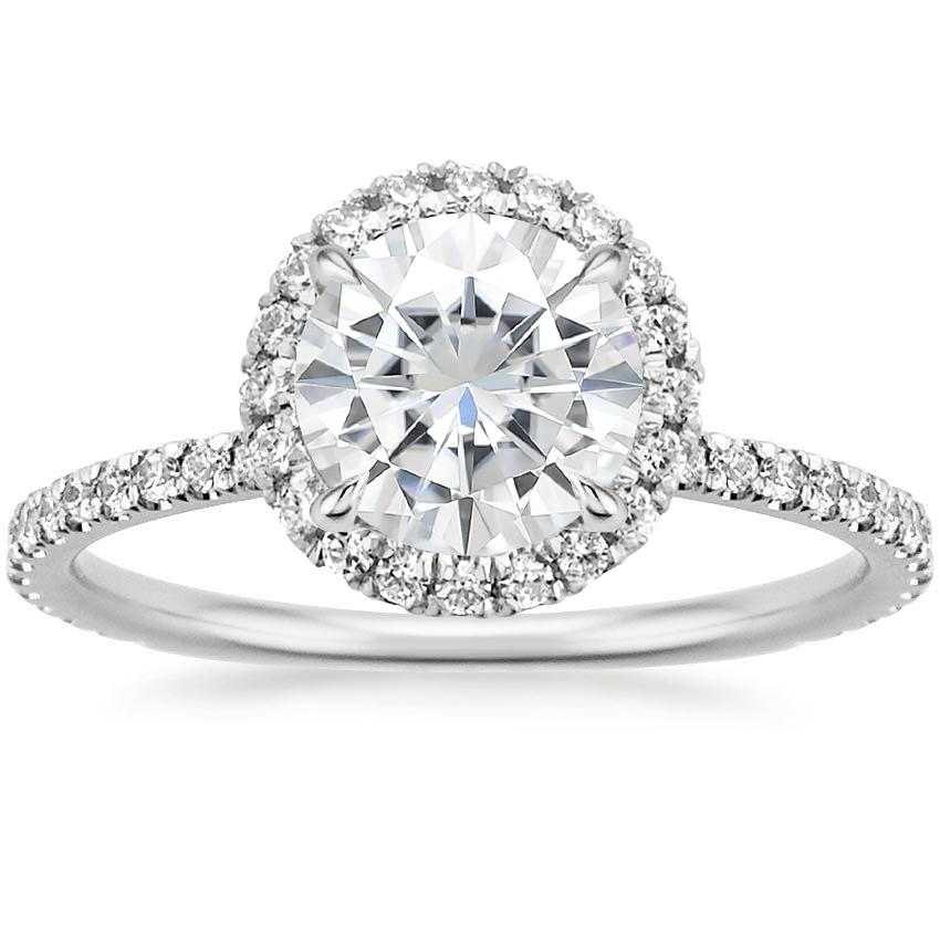 Moissanite Waverly Diamond Ring (1/2 ct. tw.) in 18K White Gold
