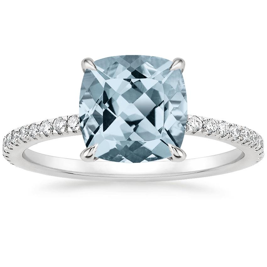 Aquamarine Luxe Viviana Diamond Ring (1/3 ct. tw.) in 18K White Gold