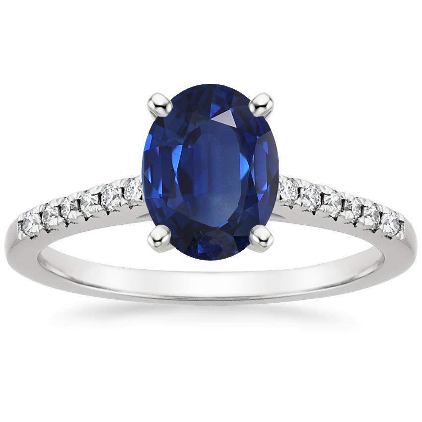 Sapphire Sonora Diamond Ring in 18K White Gold