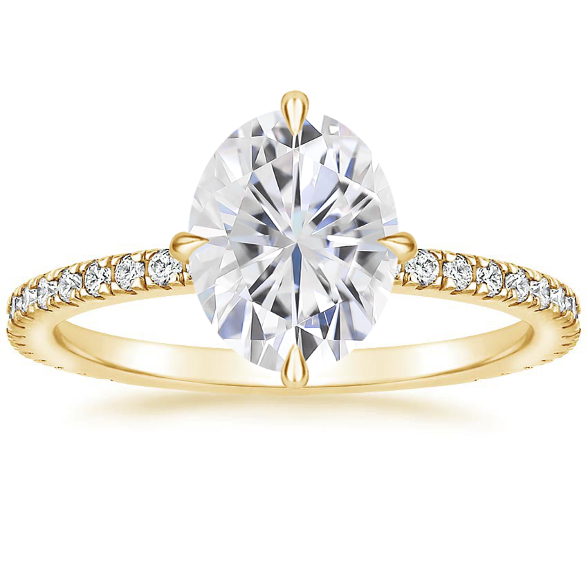 Yellow Gold Moissanite Polaris Diamond Ring