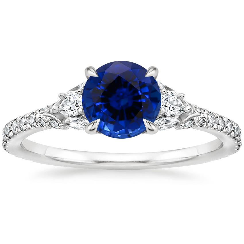Sapphire Ava Diamond Ring (1/2 ct. tw.) in 18K White Gold