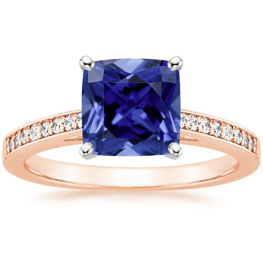 Rose Gold Sapphire Starlight Diamond Ring