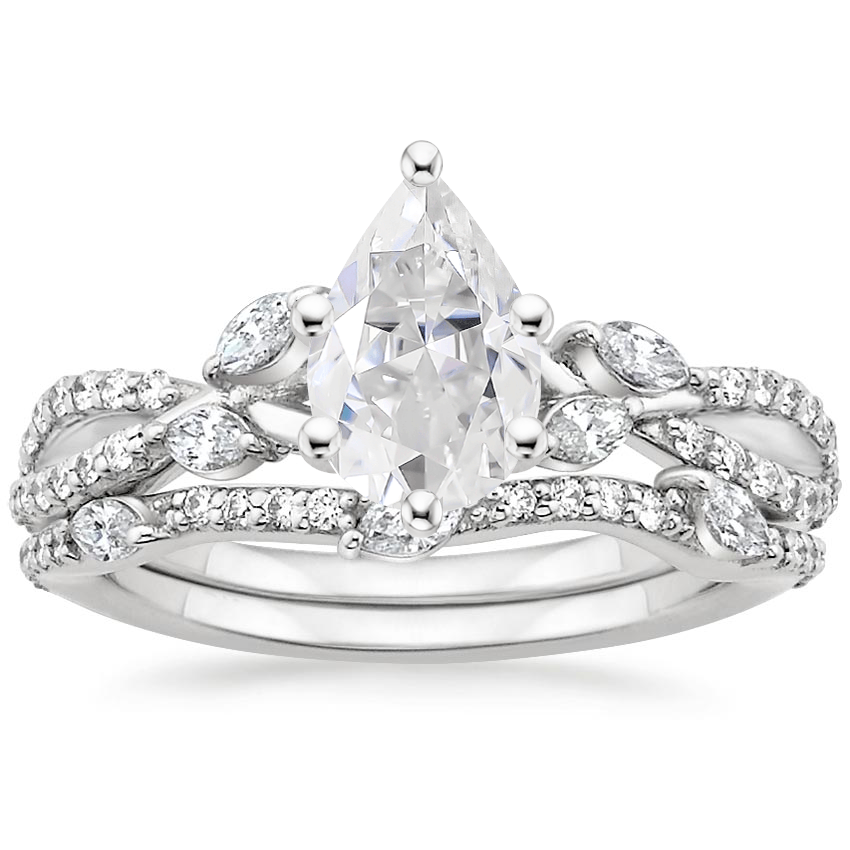 PT Moissanite Luxe Willow Bridal Set (1/2 ct. tw.), top view