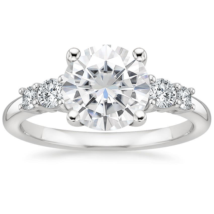 Moissanite Rialto Diamond Ring (1/4 ct. tw.) in 18K White Gold