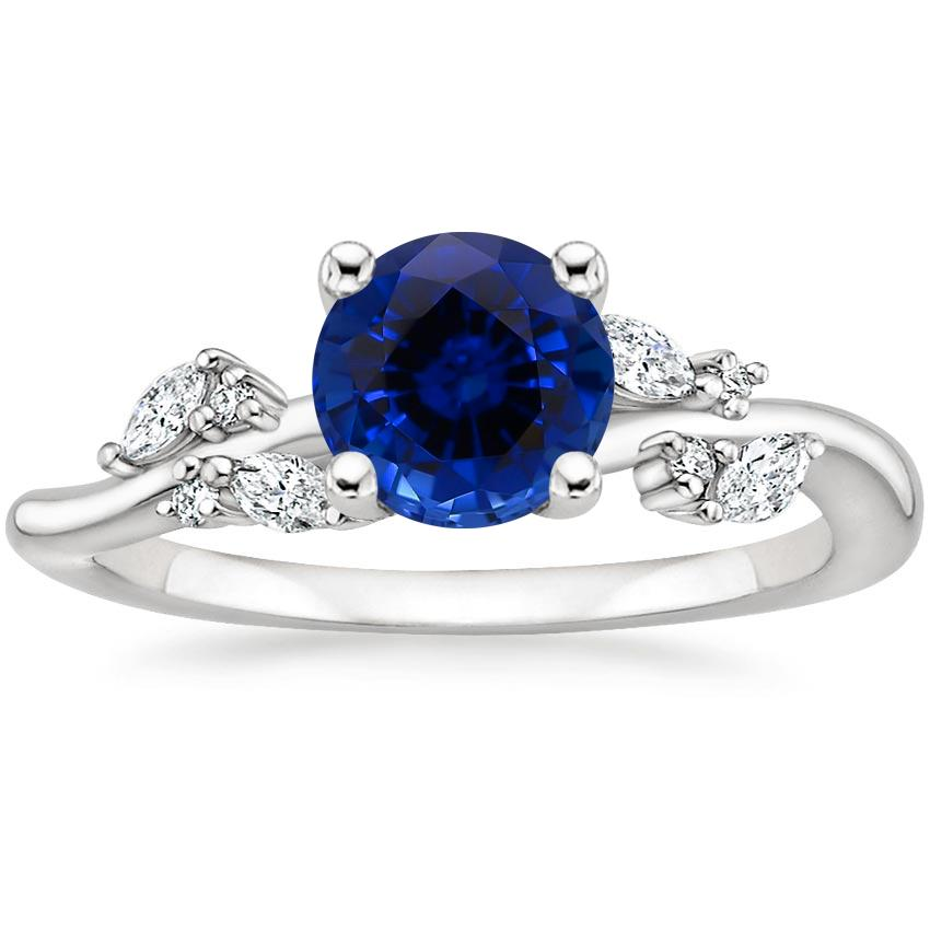 Sapphire Arden Diamond Ring in 18K White Gold