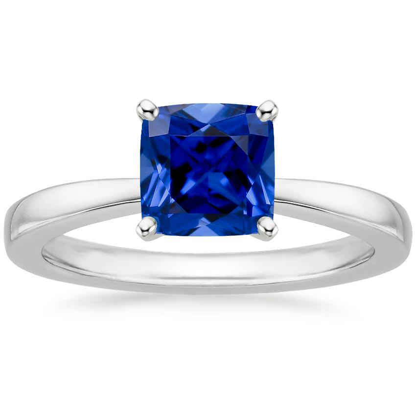 Sapphire Petite Taper Ring in 18K White Gold