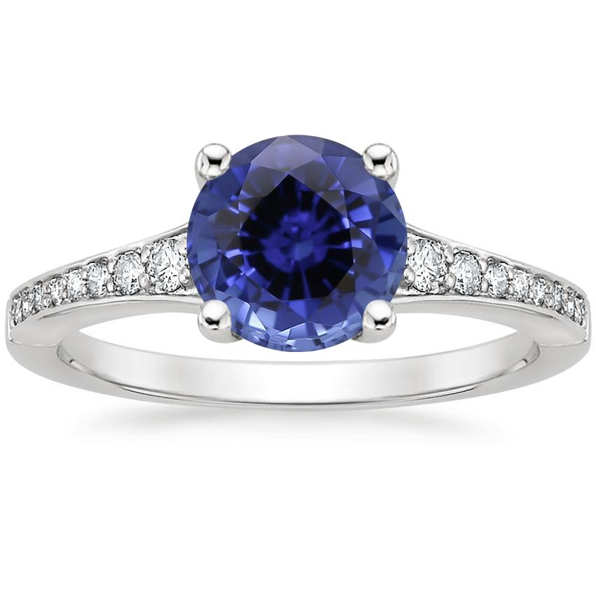 Sapphire Poetica Diamond Ring in Platinum