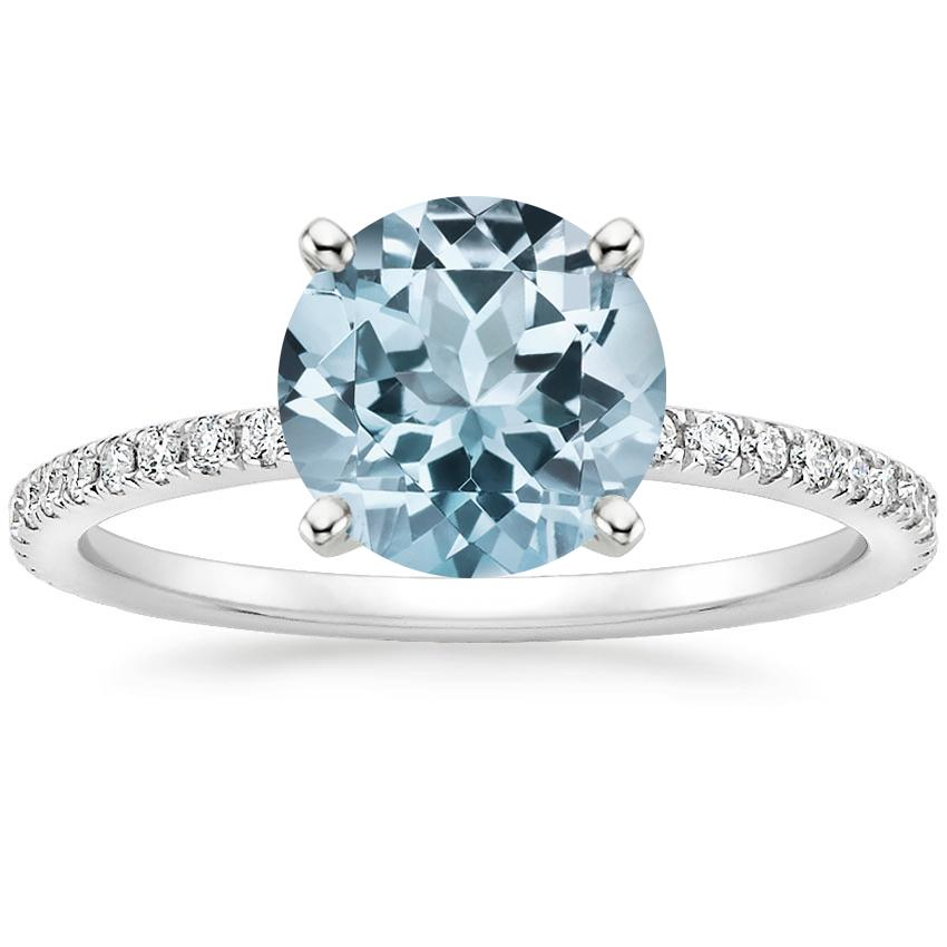 Aquamarine Luxe Ballad Diamond Ring (1/4 ct. tw.) in Platinum