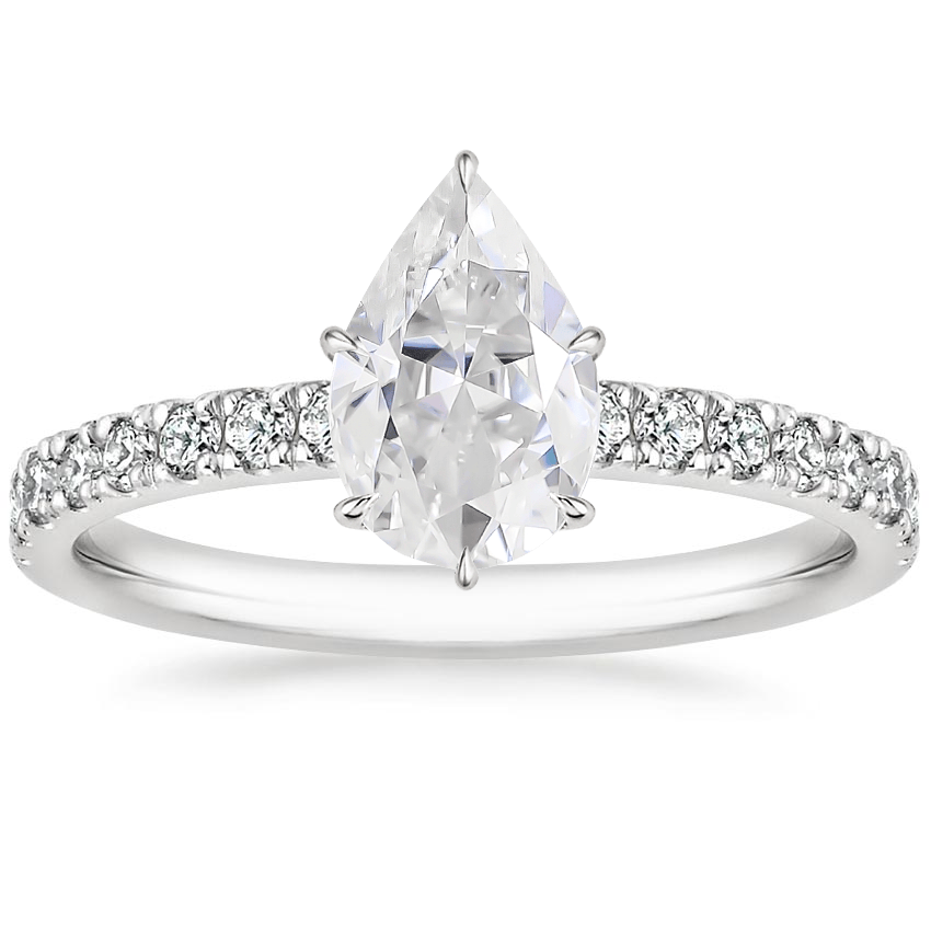 Moissanite Clara Diamond Ring in Platinum