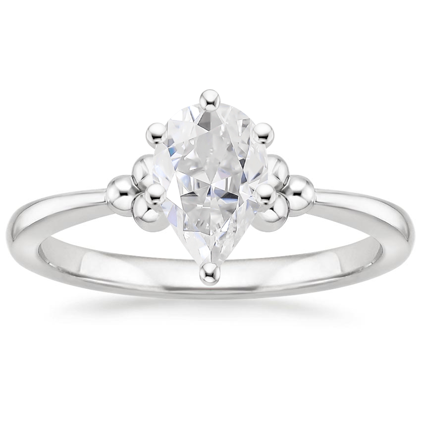 Moissanite Soiree Ring in 18K White Gold