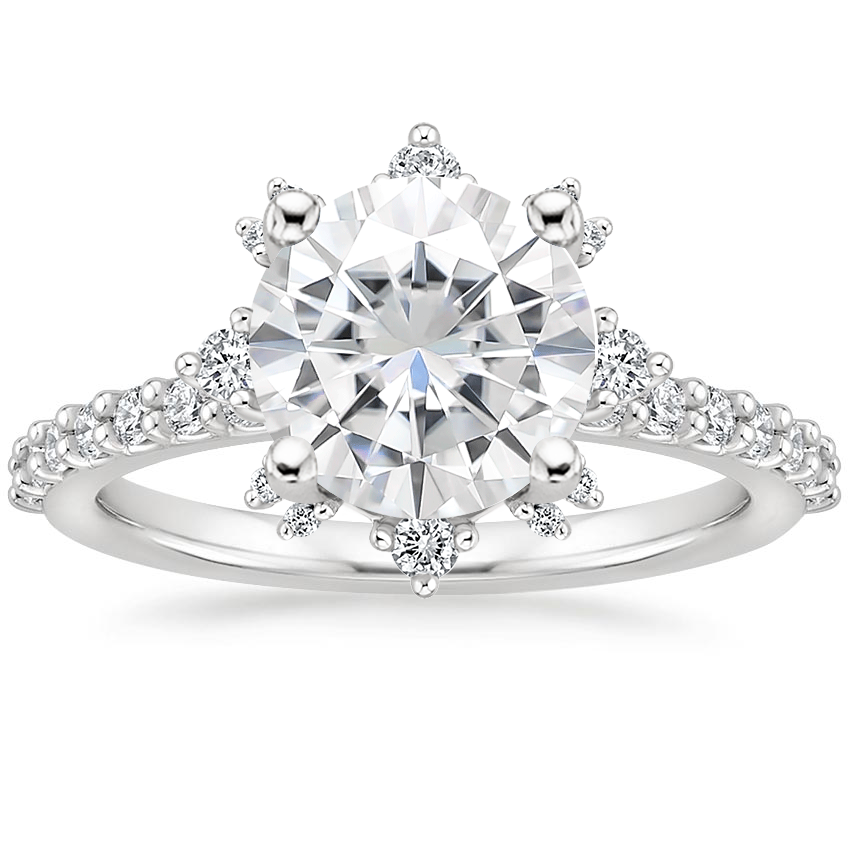 Moissanite Arabella Diamond Ring (1/3 ct. tw.) in 18K White Gold