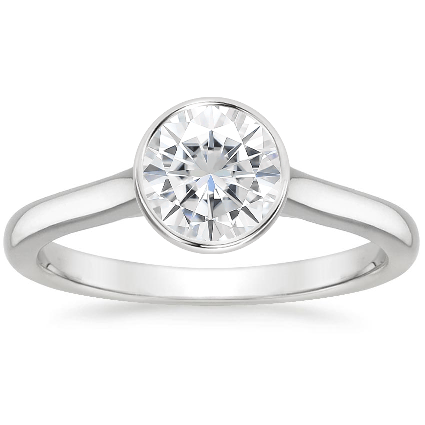 Moissanite Luna Ring in Platinum