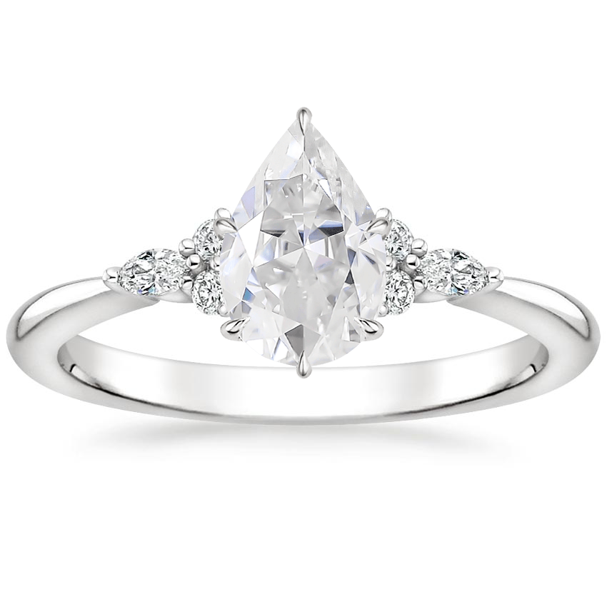 Moissanite Nadia Diamond Ring in Platinum