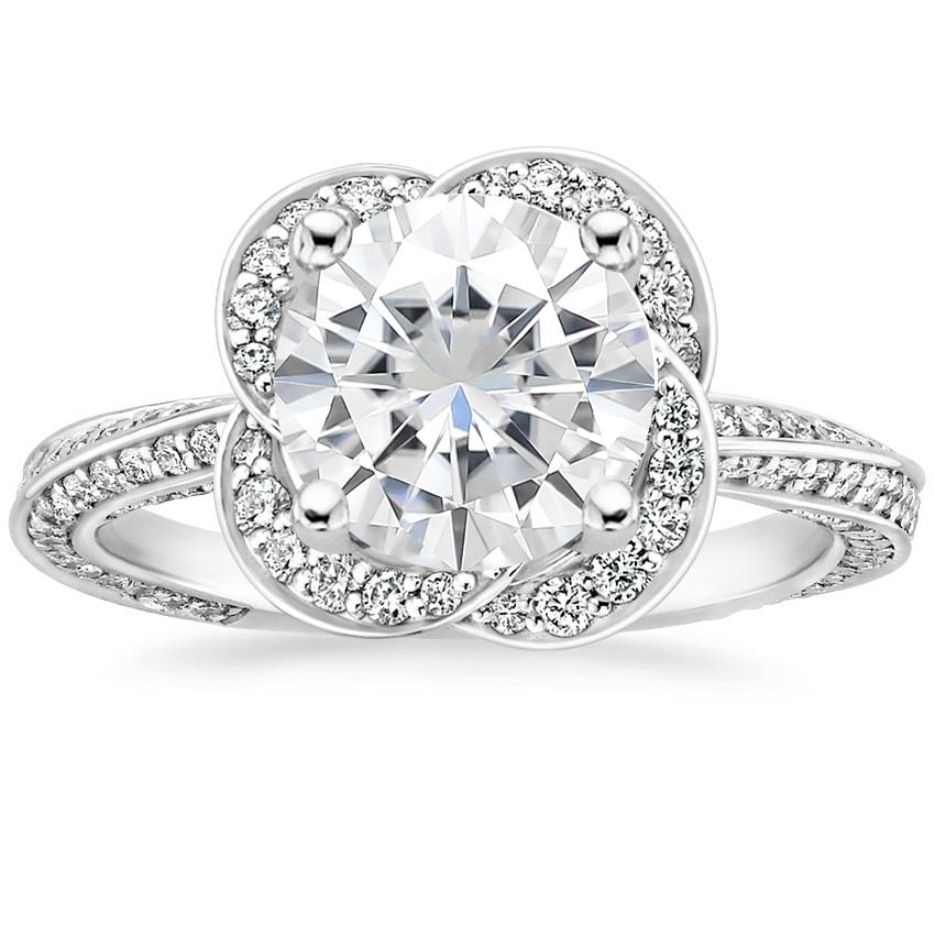 Moissanite Azalea Diamond Ring (1/2 ct. tw.) in 18K White Gold