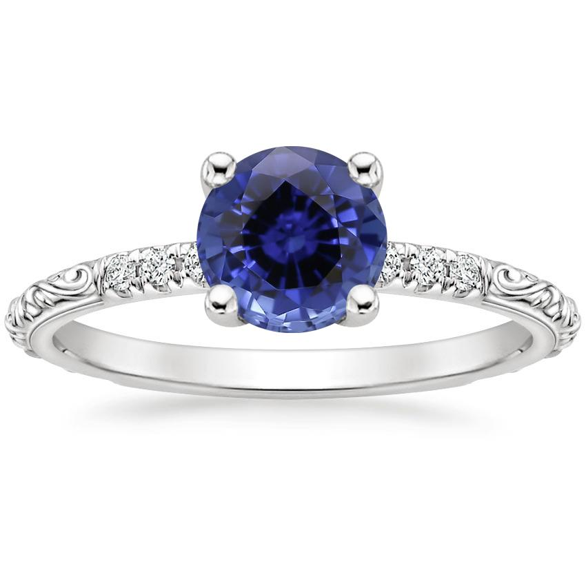 Sapphire Adeline Diamond Ring in Platinum