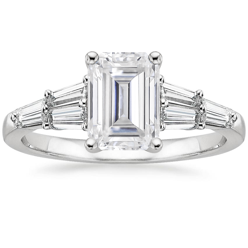 Moissanite Harlow Diamond Ring (1/2 ct. tw.) in 18K White Gold