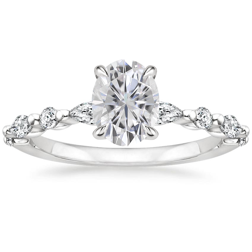 Moissanite Versailles Diamond Ring (1/3 ct. tw.) in Platinum