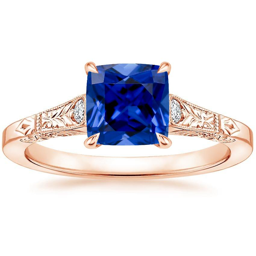 Rose Gold Sapphire Valentina Diamond Ring