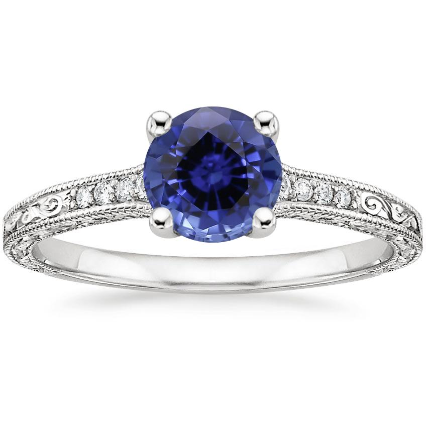 Sapphire Luxe Hudson Diamond Ring in 18K White Gold